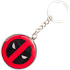 Keychain Stamped Metal - Deadpool Logo Red/Black/White