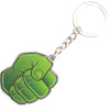 Keychain Stamped Metal - Hulk Fist Greens