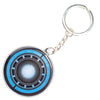 Keychain Stamped Metal - Iron Man Arc Reactor Black/Blues
