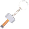 Keychain Stamped Metal - Thor's Hammer Grays/Browns
