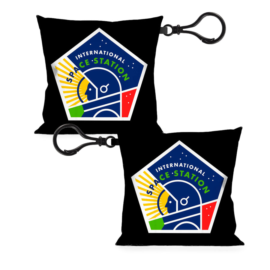 Pillow Keychain - INTERNATIONAL SPACE STATION Pentagon Black/White/Multi Color