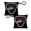 Pillow Keychain - COLUMBIA STS-1 Space Shuttle Black/White/Blues/Red