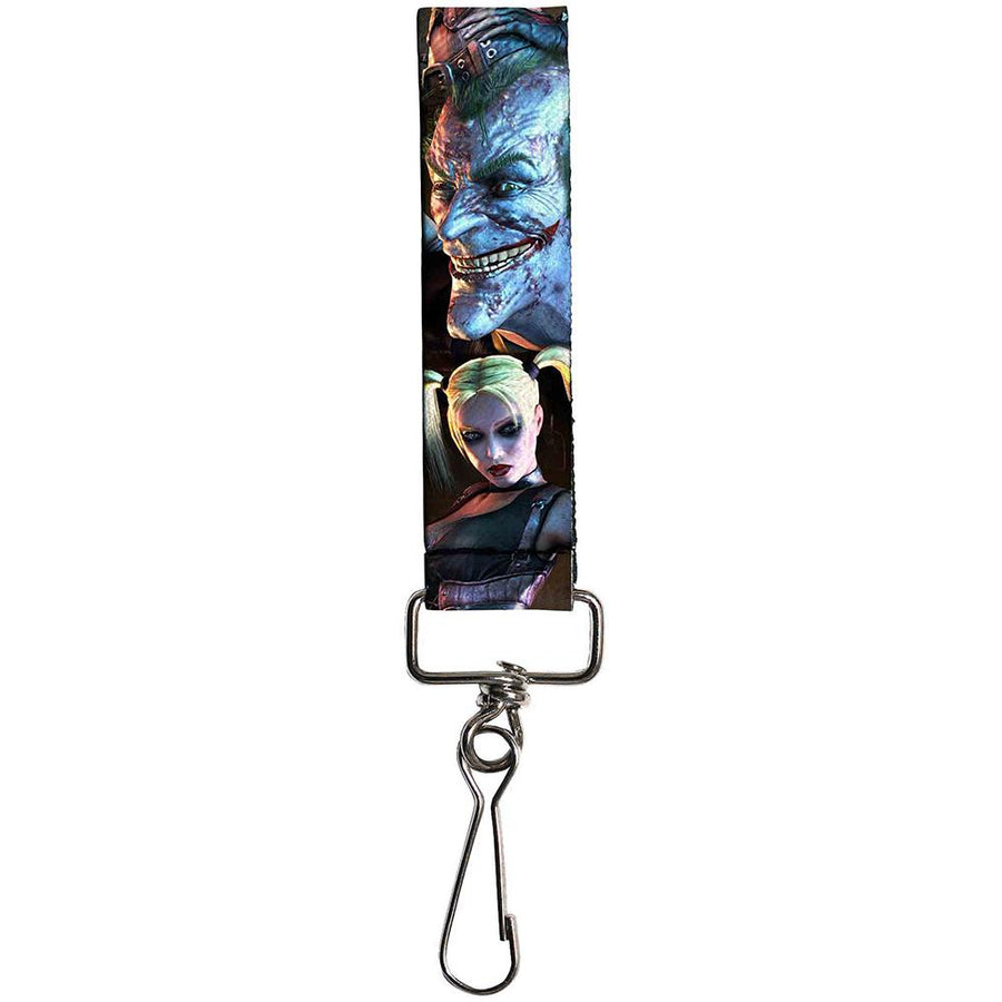 "Key Fob - 1.0"" - Arkham City Harley Quinn Pose & Joker Face"
