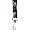 "Key Fob - 1.0"" - Joker Laughing Poses Black/White/Green"