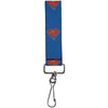 "Key Fob - 1.0"" - Superman Shiled/New 52 Pose Blue"