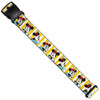 Luggage Strap - Minnie Mouse w/Hat Poses Stripe Yellow/White