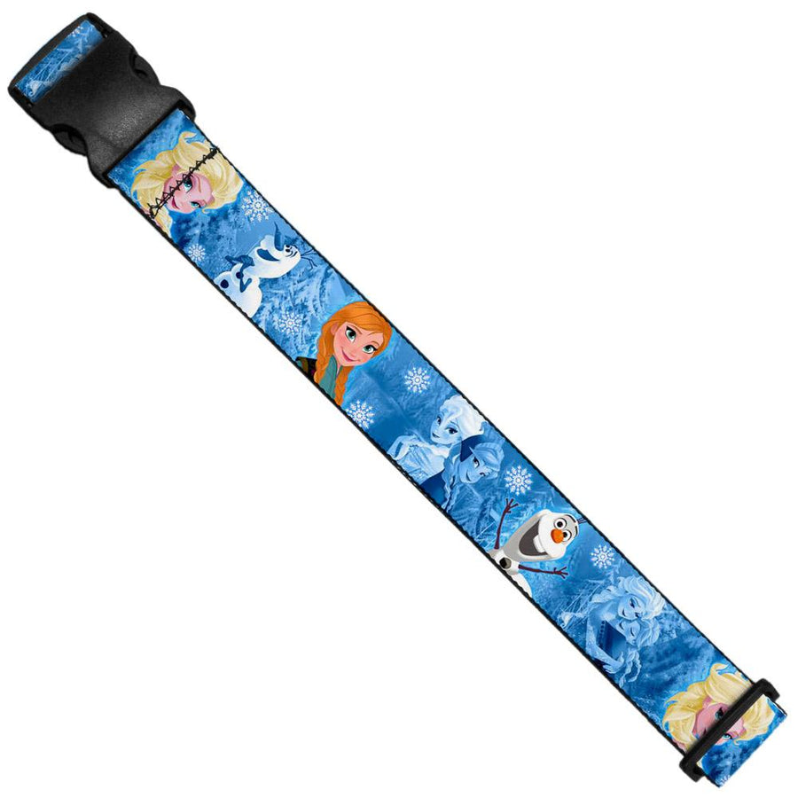 Luggage Strap - Frozen Character Poses Blues