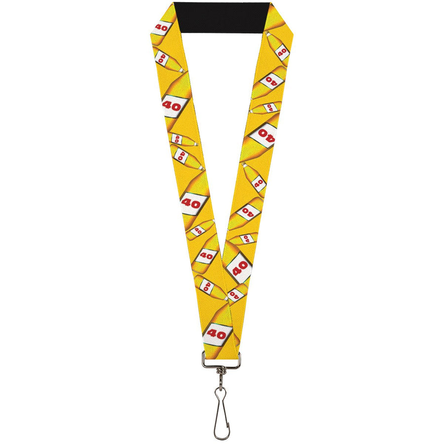 Buckle-Down Lanyard - 40 Oz. Beer Bottles Yellow