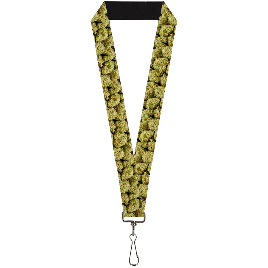Buckle-Down Lanyard - Vivid Marijuana Nugs2 Stacked