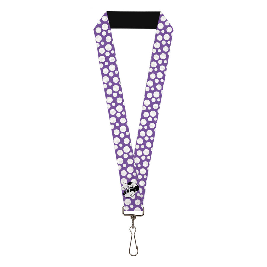 "Lanyard - 1.0"" - Minnie Mouse Multi Dots Purple/White"