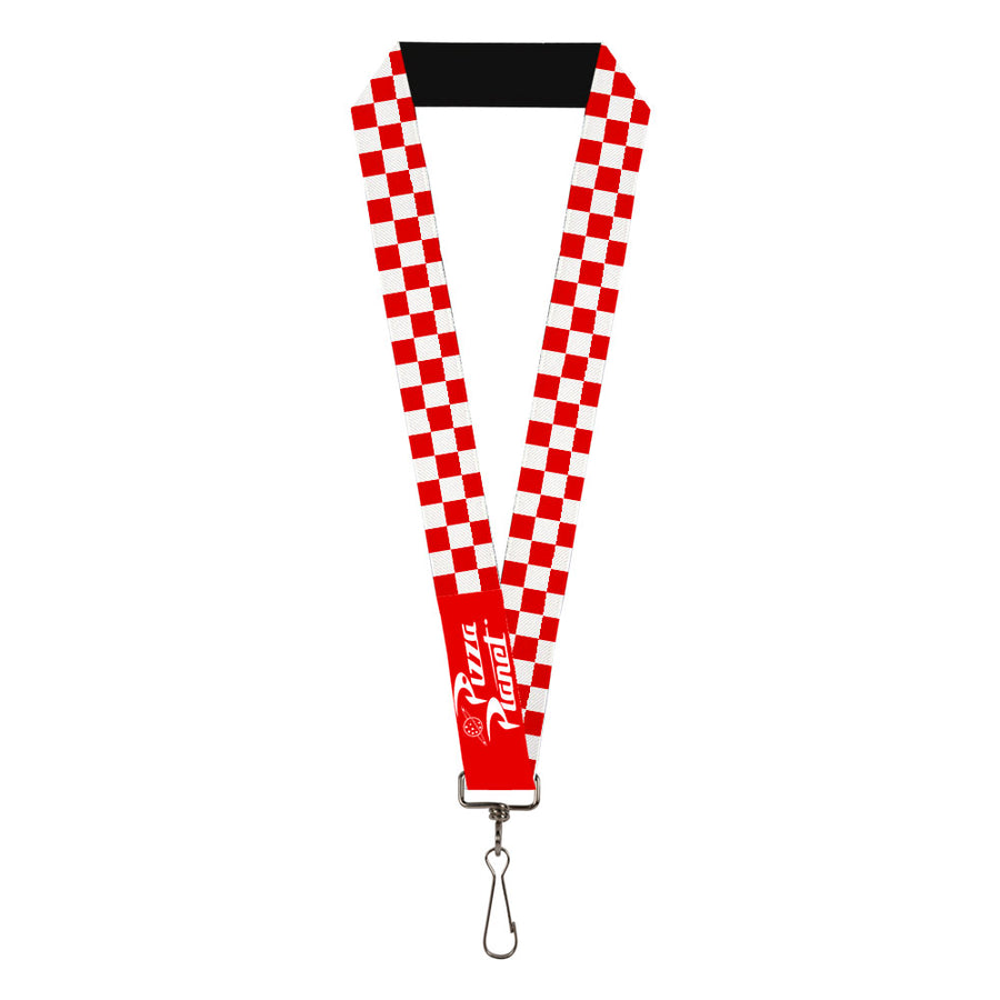 "Lanyard - 1.0"" - Toy Story PIZZA PLANET Logo Checker Red White"
