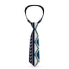 Buckle-Down Necktie - Aztec4 Blues/White/Gray