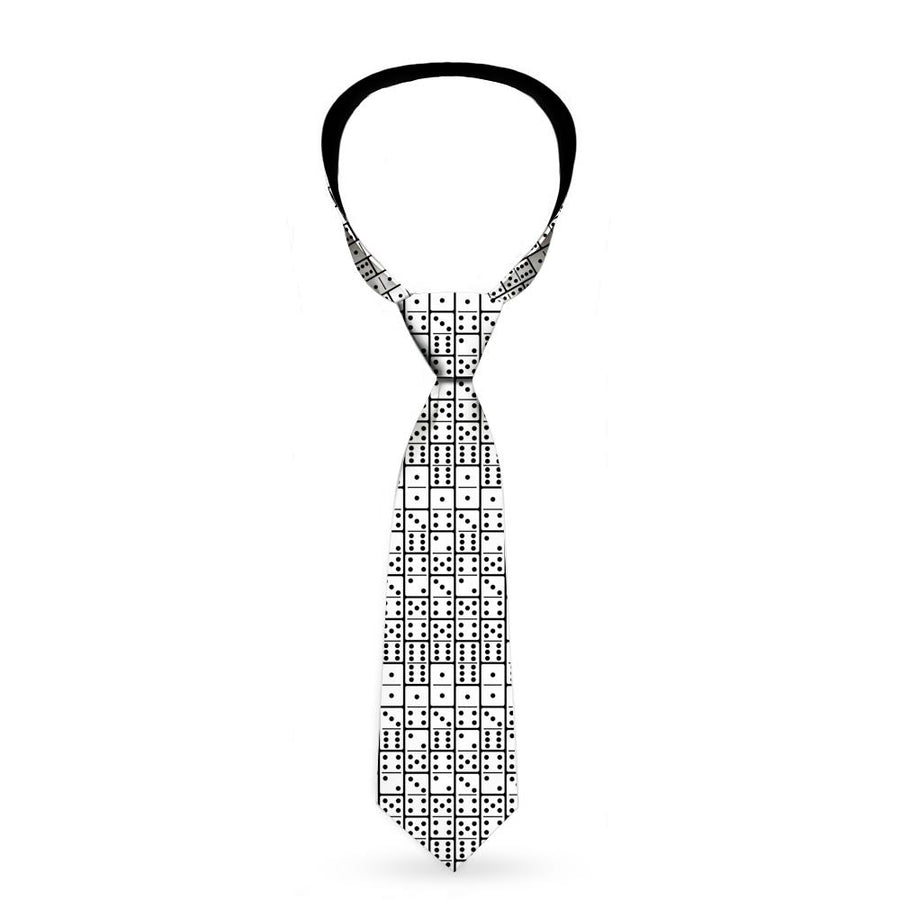 Buckle-Down Necktie - Dominos Black/White/Black