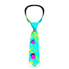 Buckle-Down Necktie - Eighties Party Blue/Yellow/Pink