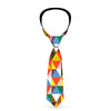 Buckle-Down Necktie - Geometric Triangle Blocks Multi Color
