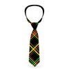Buckle-Down Necktie - Plaid X Rasta