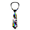 Buckle-Down Necktie - Unicorns/Rainbow Swirl Black