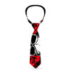 Buckle-Down Necktie - Brass Knuckles/Skulls/Roses Black/Red/White