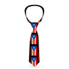 Buckle-Down Necktie - Puerto Rico Flag Weathered