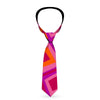 Buckle-Down Necktie - Skewed Squares Stacked Purple/Orange/Pinks
