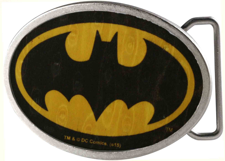 Batman Framed FCWood Black/Yellow - Matte Oval Rock Star Buckle