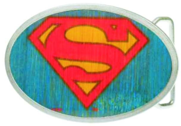 Superman Framed FCWood Blue - Matte Oval Rock Star Buckle