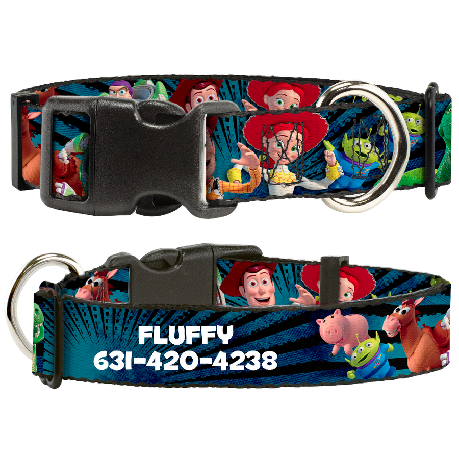 Disney Toy Story Buzz Characters - Personalized Dog Collar