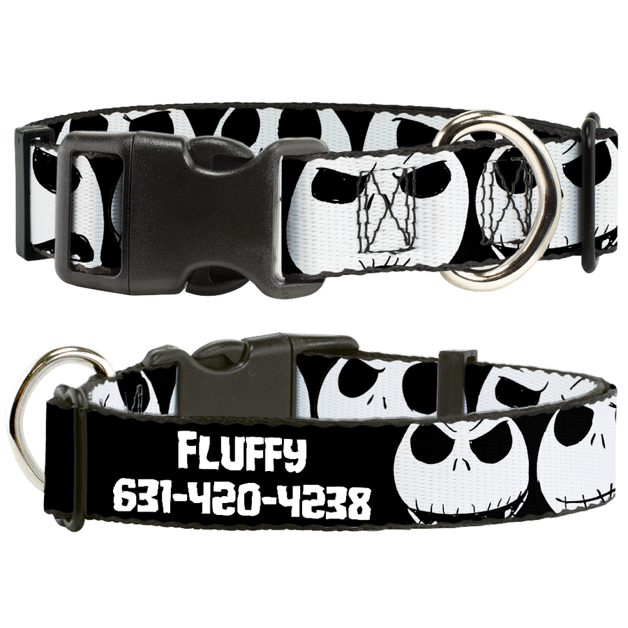 Disney Nightmare Before Christmas Jack - Personalized Dog Collar
