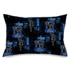 Pillowcase - STANDARD - FORD Oval/Pistons/KK301BK Blueprints Black/Blues/Gray