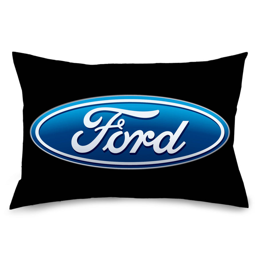 Pillowcase - STANDARD - Ford Oval Logo Black/Blue