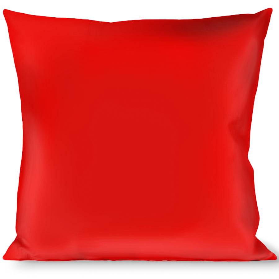 Buckle-Down Throw Pillow - Red