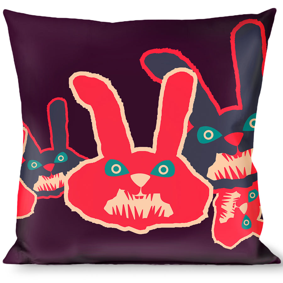 Multicolor Buckle Down Angry Girl Black//Pink Throw Pillow