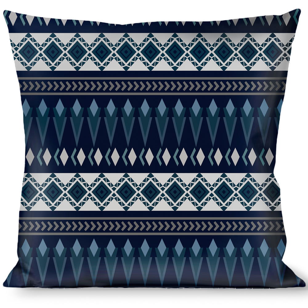 Multicolor Buckle Down Plaid X White//Red//Turquoise//Gray Throw Pillow