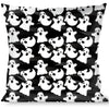 Buckle-Down Throw Pillow - Ghosts Scattered Black/White