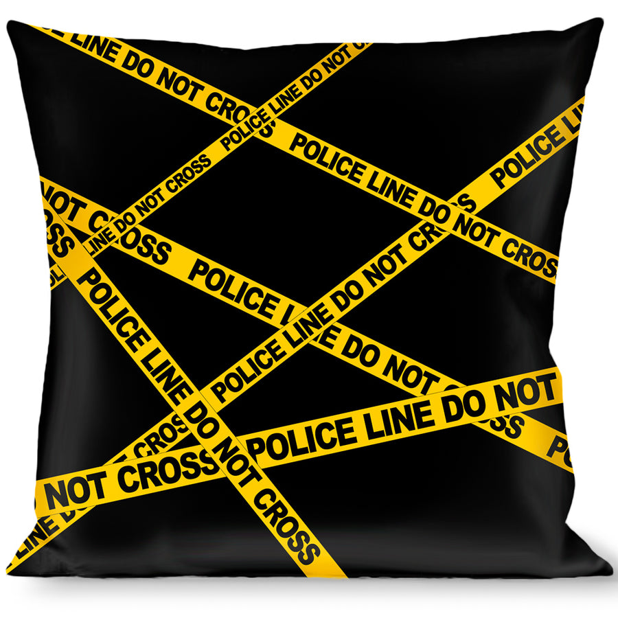 Buckle-Down Throw Pillow - Police Line Black/Yellow