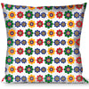 Buckle-Down Throw Pillow - Psychedelic Daisies C/U White/Multi Color