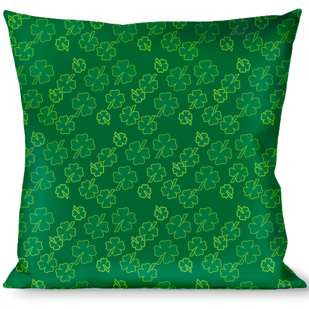 Multicolor Buckle Down Palm Leaves Stacked Pastel Greens Throw Pillow