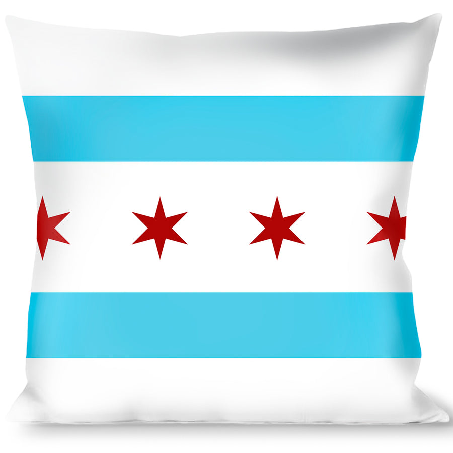 Buckle-Down Throw Pillow - Chicago Flag