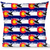 Buckle-Down Throw Pillow - Colorado/Snowmobiler/Mountains