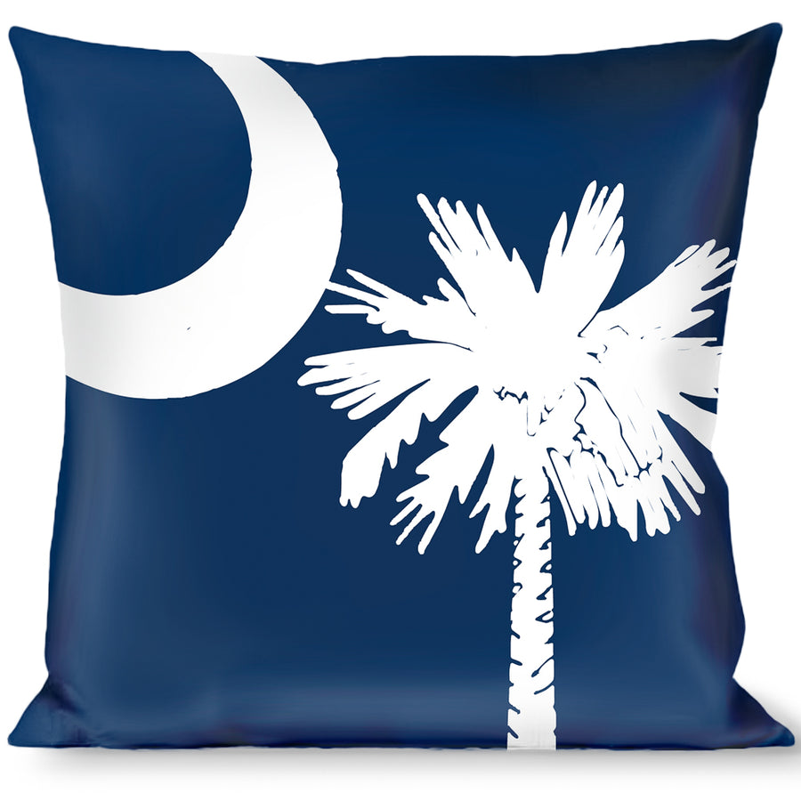Buckle-Down Throw Pillow - South Carolina Flags Scattered