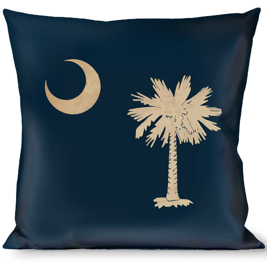 Buckle-Down Throw Pillow - South Carolina Flag Distressed/Black