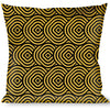 Buckle-Down Throw Pillow - Square Target Gold/Black