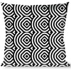 Buckle-Down Throw Pillow - Square Target White/Black
