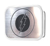 Flash Logo Framed Brushed Silver/Black - Chrome Rock Star Buckle
