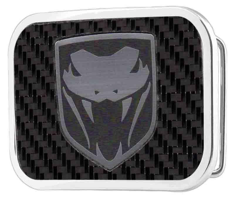 Dodge Viper Framed Marquetry Carbon Fiber/Brushed Metal - Chrome Rock Star Buckle