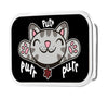 Soft Kitty Face PURR, PURR, PURR FCG Black - Chrome Rock Star Buckle