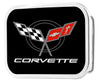 Corvette Framed FCG Black/Red - Chrome Rock Star Buckle