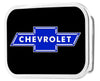 Chevy Bowtie Framed FCG Black/Blue - Chrome Rock Star Buckle