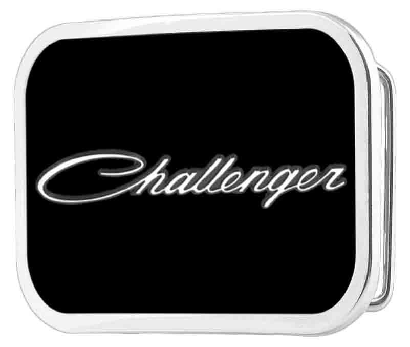 CHALLENGER Script Framed FCG Black/White/Gray - Chrome Rock Star Buckle
