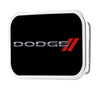 DODGE/Red Rhombus FCG Black/Silver/Red - Chrome Rock Star Buckle